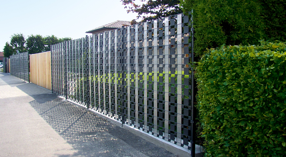 Betafence hekwerk panelen met lamellen