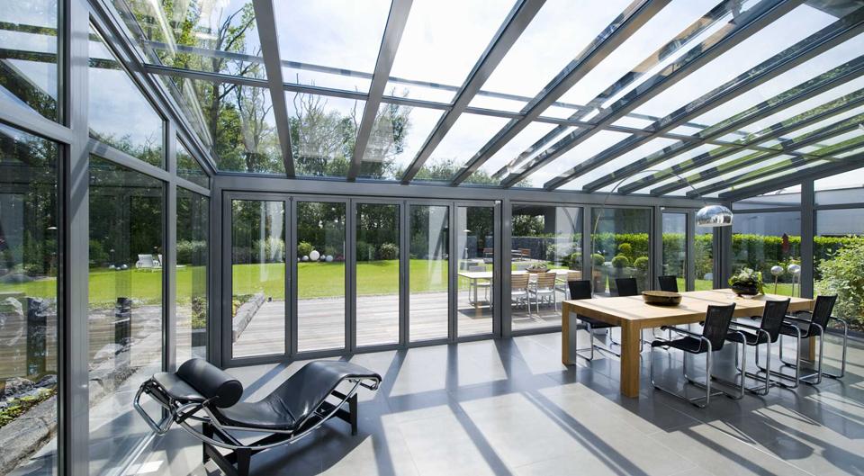 Solarlux serre van glas en aluminium